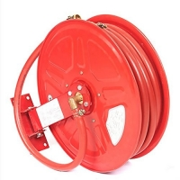 China Safety Fire Hose Reel With Sprinkler nozzle on sale