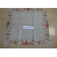 Christmas Design Linen Hemstitch Tablecloth Beautiful For Adult Age Group Manufactures