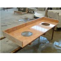 Red Cream marble vanity top Manufactures