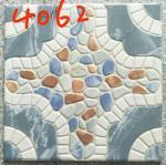 Building 400x400 Floor Tiles , Decorative Blue Rustic 400mm Floor Tiles Manufactures