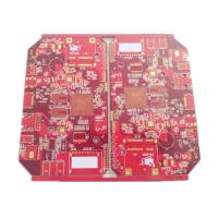 Battery Chargers Power Supply PCB & PCBA 4 Layers FR 4 Red Soldmask Manufactures