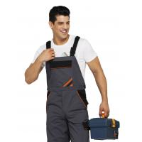 PRO Heavy Duty Bib Work Pants Woven Twill Fabric With Multi Storage Pockets Manufactures