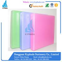 PP cover paperboard 3 O ring plastic ring binder Manufactures