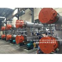 Horizontal Structure Thermal Oil Heater , Fluid Type Industrial Sized Heaters Manufactures