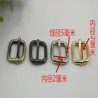 Bag making fittings 20 mm light gold iron adjust square ring adjustable buckle Manufactures