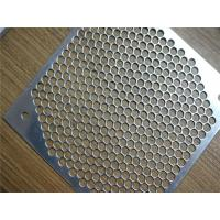China Stainless Steel / Aluminium Decorative Perforated Metal Panels Light Weight on sale