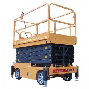 China Scissor lift platform 500kg 11m movable hydraulic aerial elevated work platform on sale