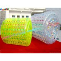 China Yellow or Transparent color Inflatable Zorb Ball, rolling ball for swimming pool, lake on sale