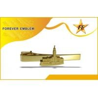 Plated / Gold Metal Custom Tie Clips For Honor / Commemorative Token Manufactures