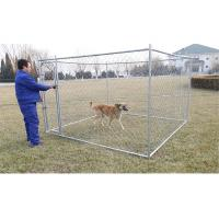 China 6feet x 10feet x 10feet dog kennel chain link fabric dog fencing panels with optionally covered roof cloth on sale