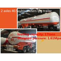China China famous CLW Double axle lpg road tanker trailer 40.5cbm Propane tanker trailer 17ton  lpg Road tanker for sale, on sale