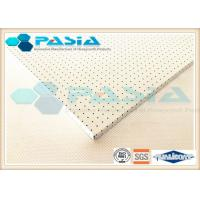 China Surface Perforated Honeycomb Flooring Panels With PVDF Fluorocarbon Powder Coated on sale