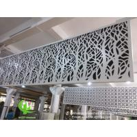 hollow pattern 3mm aluminum cladding panel with powder coated for facade curtain wall solid panel single panel Manufactures