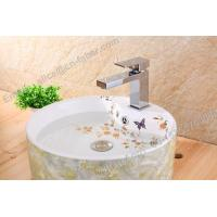 Quality plumbing water mixer square brass bathroom single handle basin faucet,square wash basin  faucet for sale