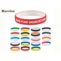Multi Color Wristband Custom Silicone Bracelet With Screen Printing Logo Manufactures