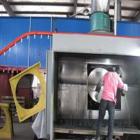 Electrostatic Manual Liquid Painting Line For Metal Products Manufactures