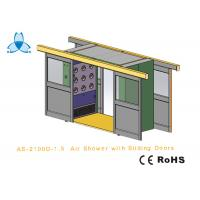 Cargo CleanRoom Air Shower With Width 1600mm Automatic Double - Leaf Sliding Doors Manufactures