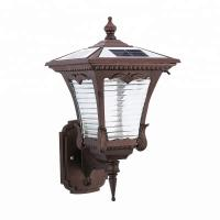 China Wall Mounted Solar Powered LED Outdoor Lights With Aluminium Frame on sale