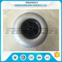 Quality 9 Inch Pneumatic Rubber Wheels PP Rim , Balloon Hand Truck Wheels Without for sale