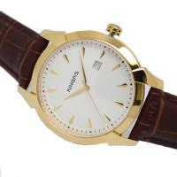 China Japan quartz movement analog watch steel case leather wrist watch for men on sale
