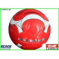 China Custom Printed Machine Stitched Soccer Ball Regulation Size , Red on sale