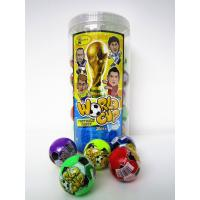 The Word Cup Theme healthy hard candy / 6g multi fruit flavor football shape hard candy in jars Manufactures