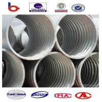 Corrugated Steel Pipe Culvert is a flexible structure adapt to different terrain subsidenc Manufactures