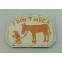 100% EMB Color Embroidery Uniform Patch With Velcro For Business Promotional Manufactures