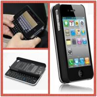 China Detachable Sliding Plastic Cover Portable Bluetooth Keyboard For Iphone 4 / 4S on sale