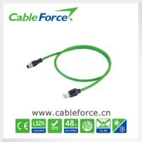 China Industrial Ethernet cable connectors M12 D Coded male connector to RJ45 male plug on sale