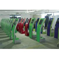 Floor Standing Self Serving Kiosk / Airline Kiosk Check In Terminal For Hotel Manufactures