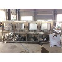 3.8KW Bottle Washing Filling Capping Machine / 20 Liter Jar Mineral Water Plant Manufactures