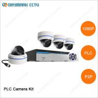 China 1 megapixel plug and play 4 channel PLC cctv home security system with NVR on sale
