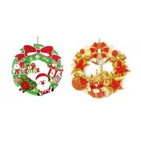 Christmas decorations paper card welcome door window ornaments hung on Santa snowman was hanger Manufactures