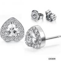 New design Drjobson jewelry stainless steel earrings with crystal for women,hot sales-02 Manufactures