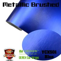 China Matte Metallic Brushed Vinyl Wrapping Film - Matte Metallic Brushed Dark Blue on sale