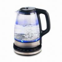 1.7L Electric Kettle with Glass Body, LED Light, Digital Controller