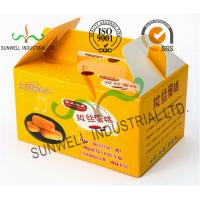 Custom Printed Foldable Cardboard Food Packaging Boxes For Cup Cake / Dessert Packing for sale