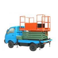 11m lifting height stationary vehicle mounted scissor lift for light replacement Manufactures