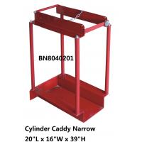 China Narrow Type Compressed Gas Cylinder Storage Racks With Chain Divider / Lockable Pin on sale
