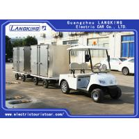 2 Ton Electric Golf Carts , White Color Two Seats Electric Towing Tractor Manufactures