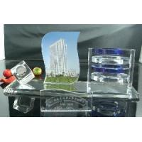 Crystal Glass Table Clock with High Quality Manufactures