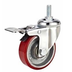 Iron core PU wheel,75mm,100mm,125mm castor,screw stem caster,Caster manufacturer China Manufactures