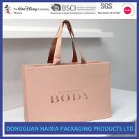 China Glossy Laminated Kraft Paper Shopping Bags Custom Color Gift Shopping Bag on sale