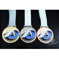 Commercial Die Cast Sports Award Medals , Custom Made Medallions Smooth Back Manufactures