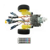 China 7V-12V Arduino Car Robot Kit Line Tracking Fire Fighting Infrared Remote Control on sale