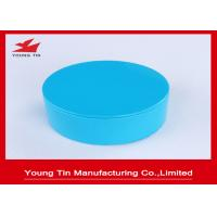 Empty Seamless Round Gift Tins Candy Packaging Blue Color Printed 85x36mm Manufactures