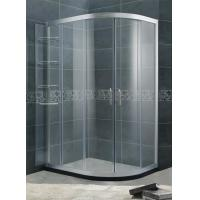 China With Chromed Aluminum Shower Door Movable 6 / 8 mm Tempered Glass For Home / Hotel on sale