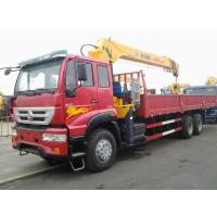 Sinotruk Howo Xcmg 12 Tons Lorry Mounted Crane 6x4 Straight Arm 17m With Warranty Manufactures