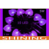 2.5m Battery Operated LED String Lights Love Shape For Wedding Stage Manufactures